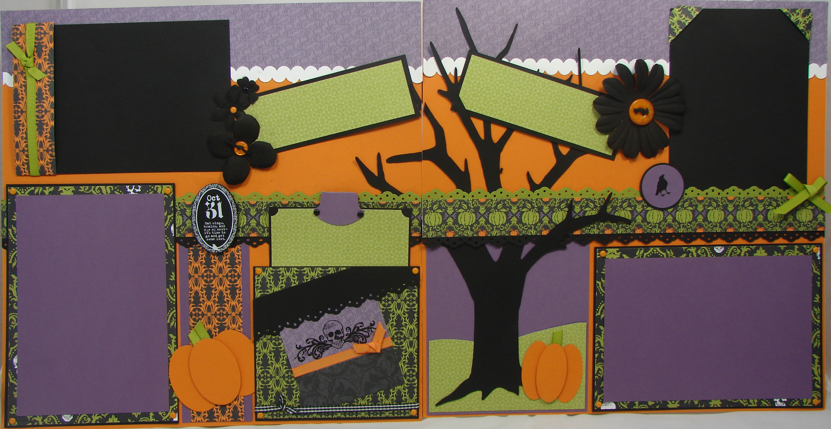 How to refill scrapbook pages - Cast A Spell With This Spooky Halloween Scrapbook Layout