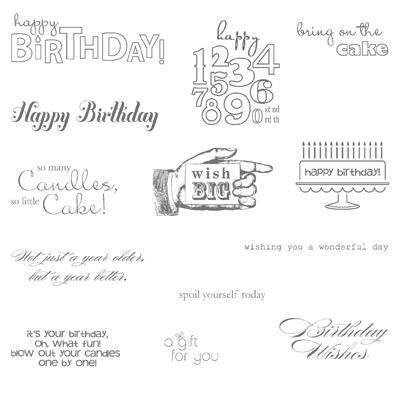 Stampin Up Birthday Single Stamp #C72